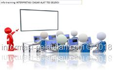 info training menggunakan dan memanfaatkan informasi dari alat tes
