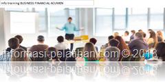 info training pengetahuan dan keterampilan mengenai Business Financial Acumen