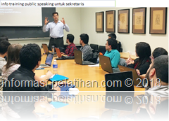 info training PUBLIC SPEAKING for SECRETARY