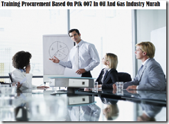 training procurement activities in oil and gas industry murah
