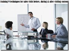 training succes in sales visits murah