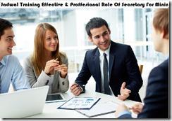 jadwal training peraturan sekretaris untuk perusahaan migas